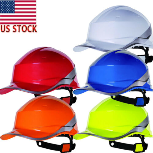 Diamond V Hard Hat Safety Helmet High Hi Vis Baseball Reversible Sticker Hat