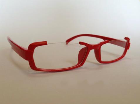 Free Shipping Puella Magi Madoka Magica Akemi Homura Red Cosplay Glasses