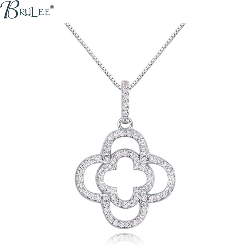 2016 New Fashion luxury S925 Silver Necklace Swarovski Elements Crystal Flower necklace Pendant Wedding Jewelry Wholesale