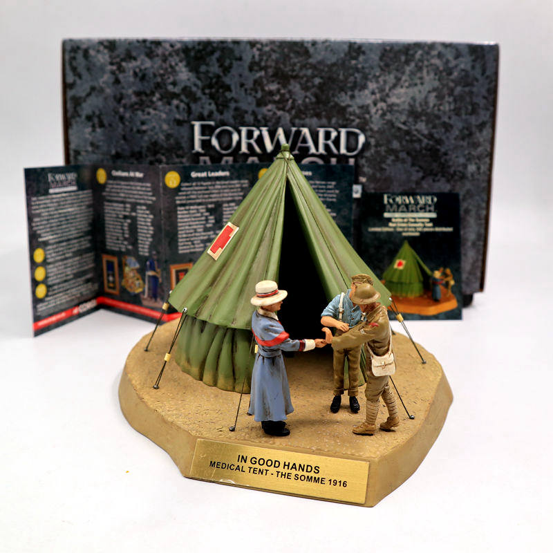 Corgi 1:32 Forward March CC59188 Battle of the Somme Red Cross Casualty Tent IN GOOD HANDS Scene Model Toys the red tent