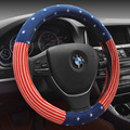 Winter plush chinese style British style short plush steering wheel cover auto interior accessories car steering wheel covers