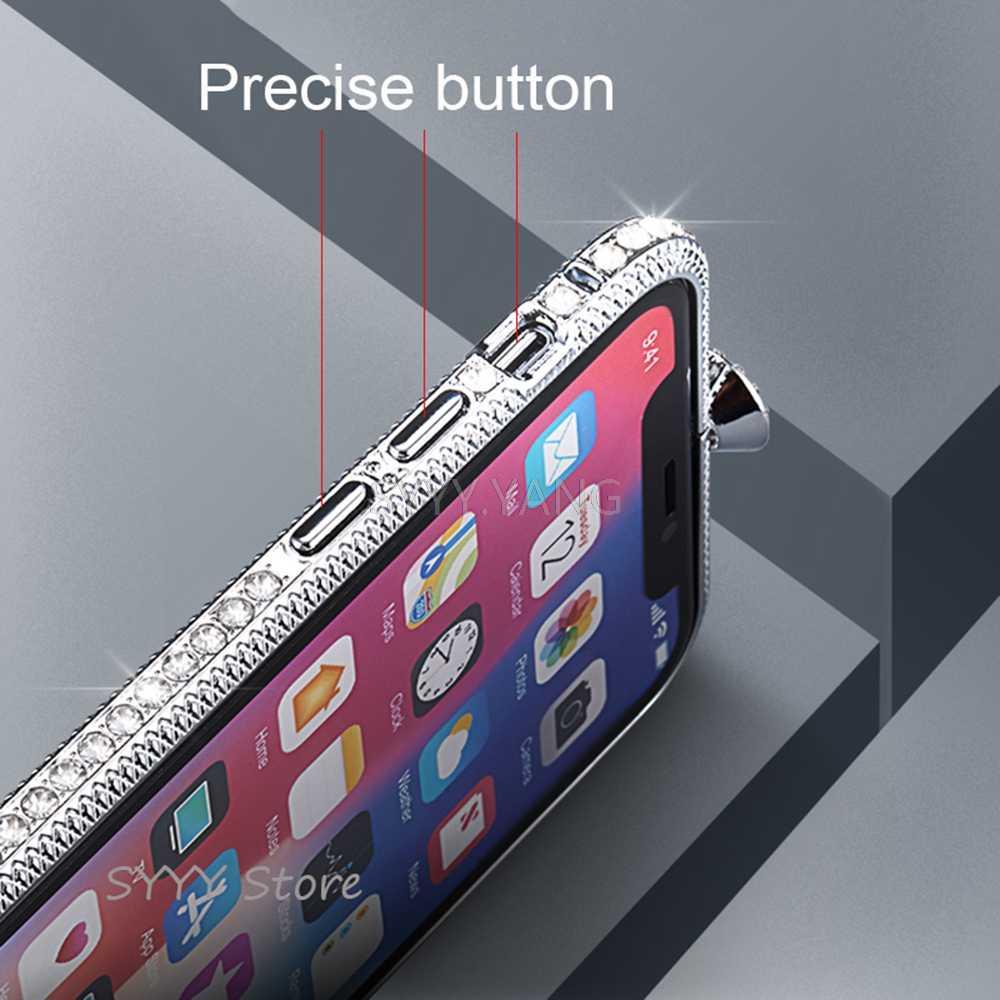 الفاخرة حجر الراين حقيبة لهاتف أي فون xr xs ماكس xs أزياء iphone حقيبة لهاتف أي فون 6 6s 7 8 زائد فلاش الحفر الهاتف حالات الفتيات