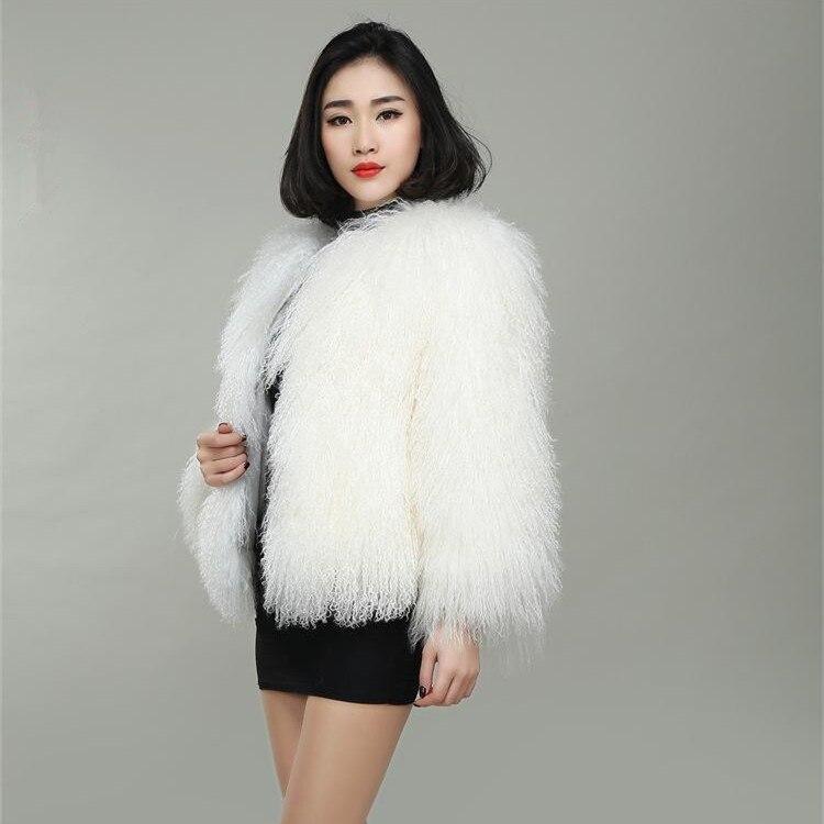 Plage Laine Fourrure Vêtements Mongolie Nouveau Manteau Style Femme De Moutons n1zIzqP4