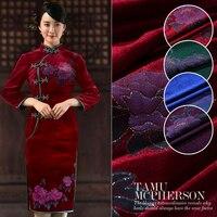 Printed bronzed velvet fabric drape velvet fabric gold velvet clothing cheongsam chinese velvet fabric wholesale fashion cloth