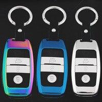 Zinc Alloy Car Key Case Cover Keychain Key Ring Key Shell For Kia K2 K3 K4 K5 K9 KX3 KX7 Shuma Sorento Sportage Cadenza