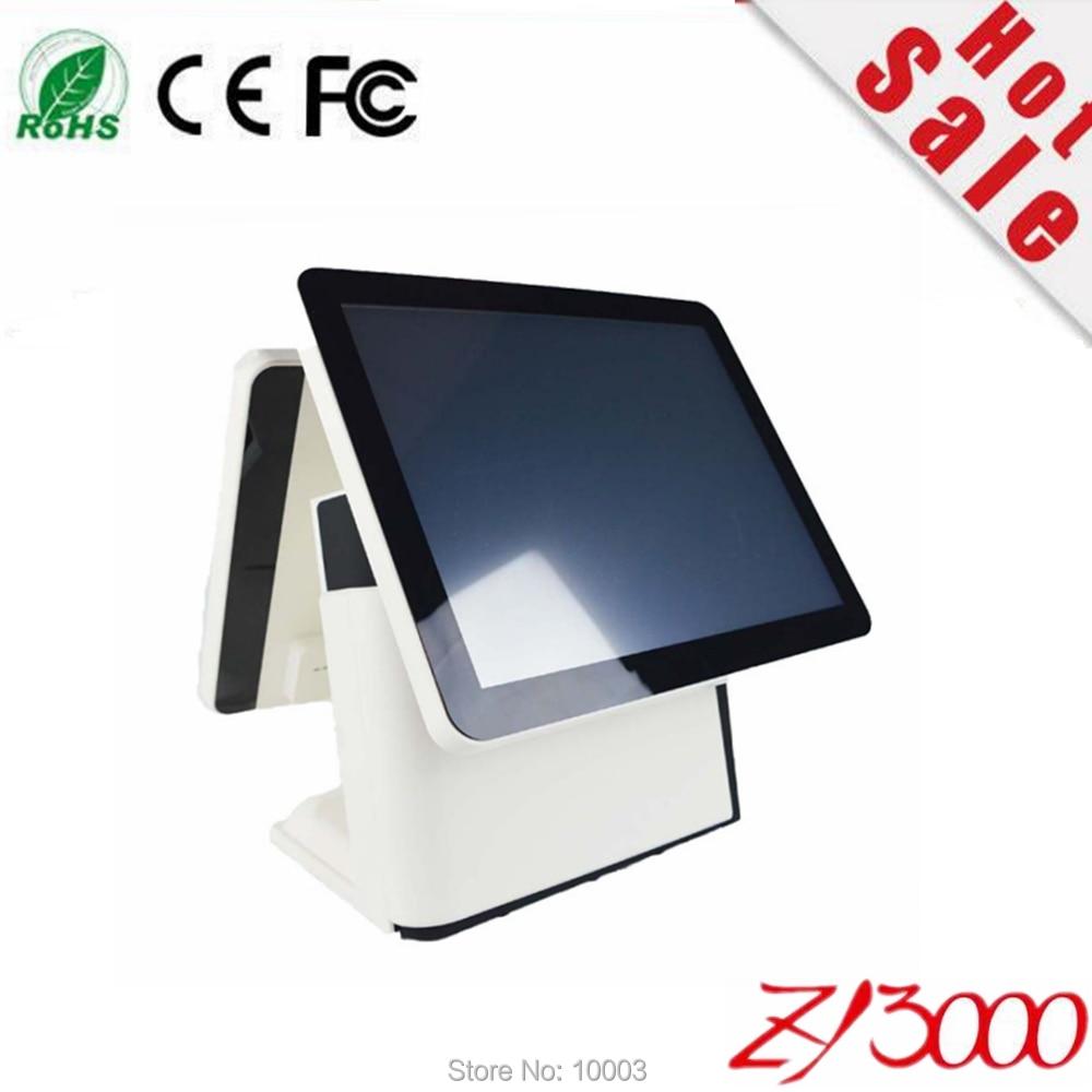 Nuovo magazzino I5 4200u DDR 8G Msata 128G SSD WIFI 15 pollici di capacità multi touch Screen all in un unico sistema pos dual screen