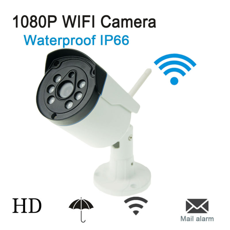 ФОТО Onvif IP Camera WIFI Megapixel 1080P HD Outdoor Waterproof IP66 Wireless Security CCTV Cam Infrared SD Card Slot P2P Bullet Kame