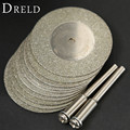 10pcs 35mm dremel accessories Stone Jade Glass Diamond dremel Cutting Disc Fit Rotary Tool Dremel Drills Tool with Two Mandrel