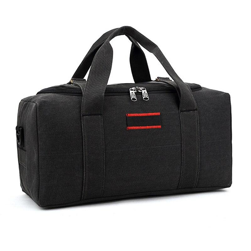 2019 Canvas Travel Bag Weekend Bag Large Capacity Overnight Bag Shoulder Men Waterproof Messenger Bags Women Travel Tote