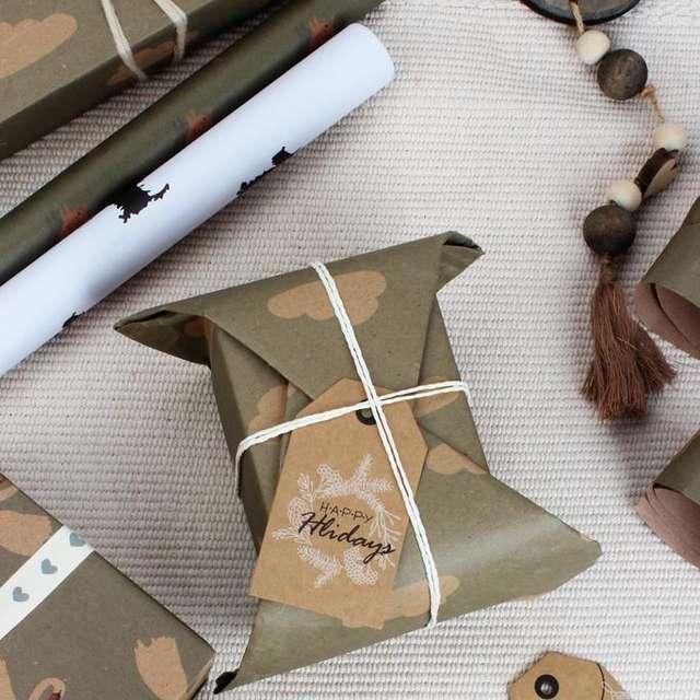 Animal Printed Kraft Wrapping Paper Set 5 Pcs