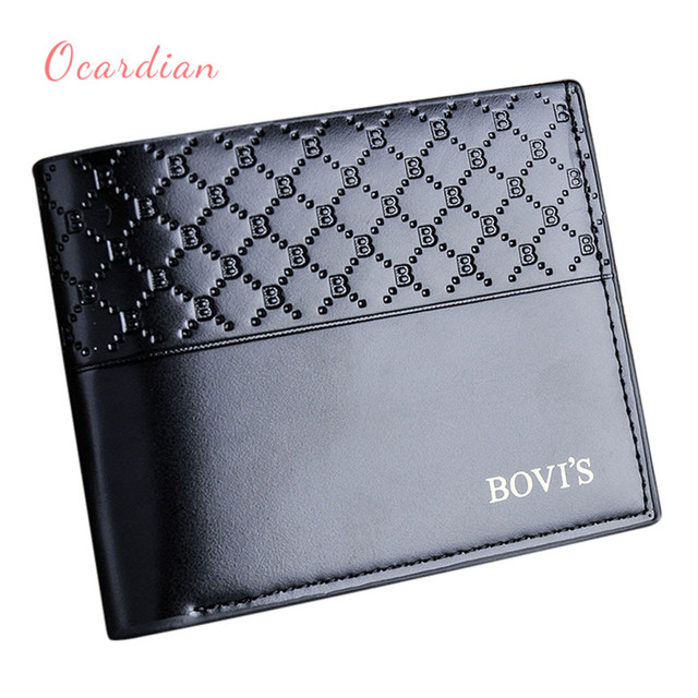 6fbf1e47c OCARDIAN monedero mujer Men Leather Card Cash Receipt Holder Organizer  Bifold Wallet Purse Casual #30 2018 Gift