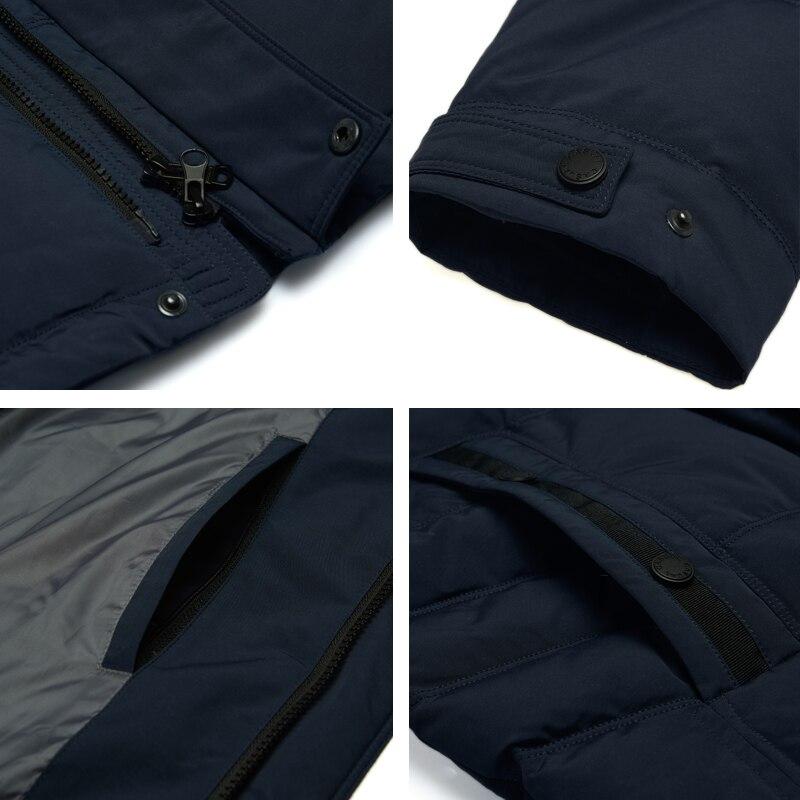 8746b490767 2018 зимнее мужское длинное пальто из тяжелой шерстяной смесовой ткани  ветровка свободный Тренч парки Пальто хлопковая