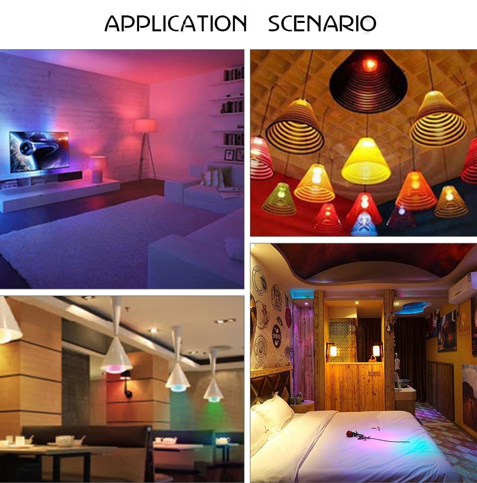 85-265V E27 LED Lamp RGB 15W Bluetooth APP Wifi Control Smart Bulb 10W RGBW RGBWW Light Bulb IR Remote Control Home Lighting (37)