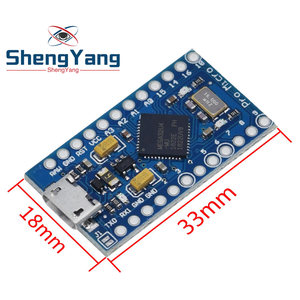 Image 5 - פרו מיקרו ATmega32U4 5V 16MHz להחליף ATmega328 עבור Arduino Pro Mini עם 2 שורת פיני עבור לאונרדו מיני Usb ממשק