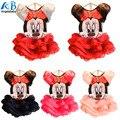2015 nuevos niños de la muchacha dress traje de minnie mouse que arropan los niños de la princesa ropa de las muchachas sin mangas de dress dress