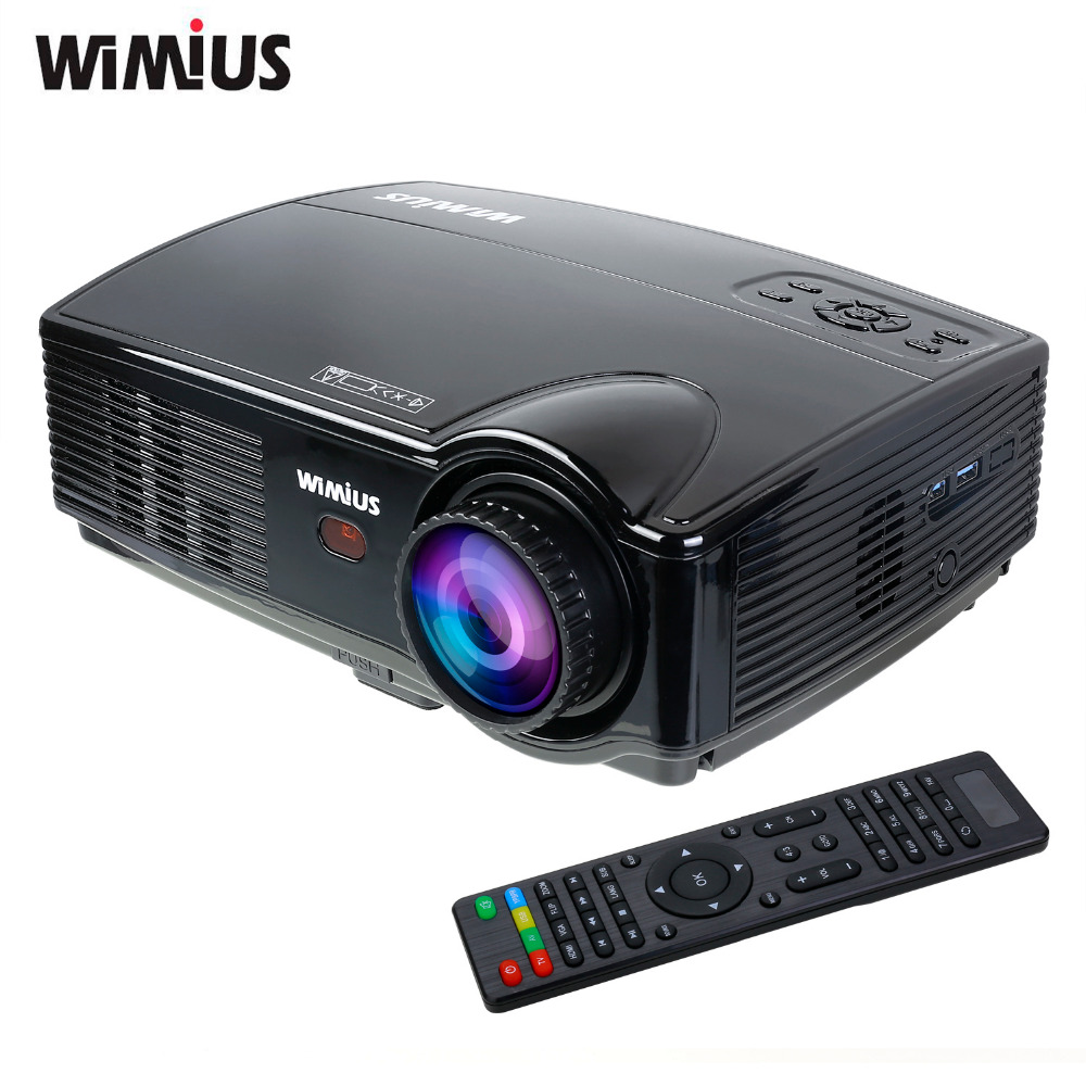 Buy wimius t4 3200 lumens led projector for Usb projector reviews