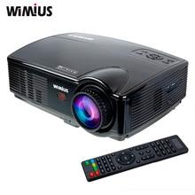 WIMIUS T4 3200 Lumens LED Projecteur HD 1280×800 Résolution de Soutien 1080 P HDMI/AV/VGA/USB Home Cinéma Théâtre Vidéo Projecteur