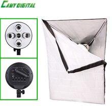 Фотоаппаратура Фотостудия Softbox 50×70 см с Одного Держателя Лампы 1 E27 до 5 E27 винт с цилиндрической головкой непрерывное Освещение