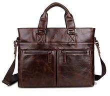 High-grade Real Genuine Leather Men Messenger Bag Cowhide Portfolio Shoulder Bag Business Laptop Briefcase Men's Bag #VP-J7220