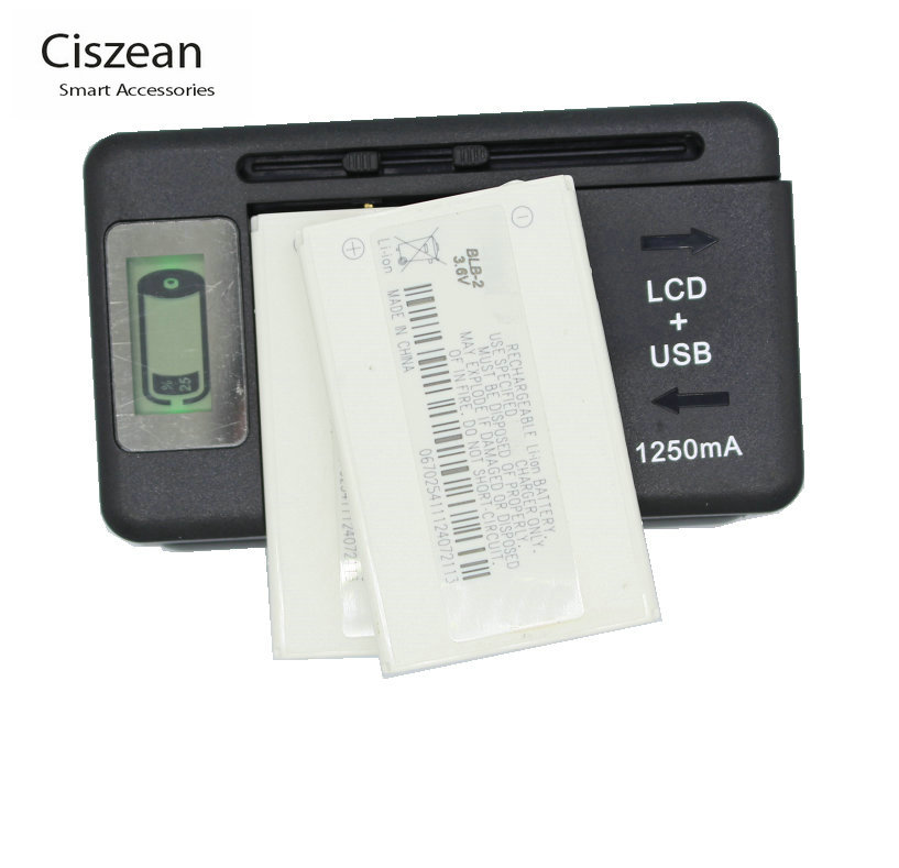 2x Replacement BLB-2 Battery + LCD Universal Charger For Nokia 5210 6500 6510 3610 6590 8270 8310 8850 8890 8910 8910i 8210 7650