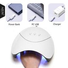 Azure Красота Z3 36 Вт УФ светодио дный ногтей сушилка для профессиональных Nail Art Главная Применение лаковое гелевое покрытие для ногтей барабан Высокое качество Mini USB лампа