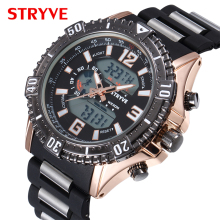hot deal buy top luxury brand model s8004 stryve watches men 3atm wateproof men's quartz analog digital watches men hot sales sports watches