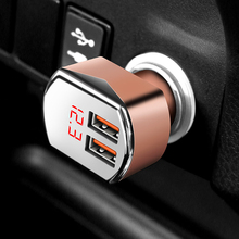 Vacarx car cigarette lighter socket double USB charger with intelligent battery voltage monitoring