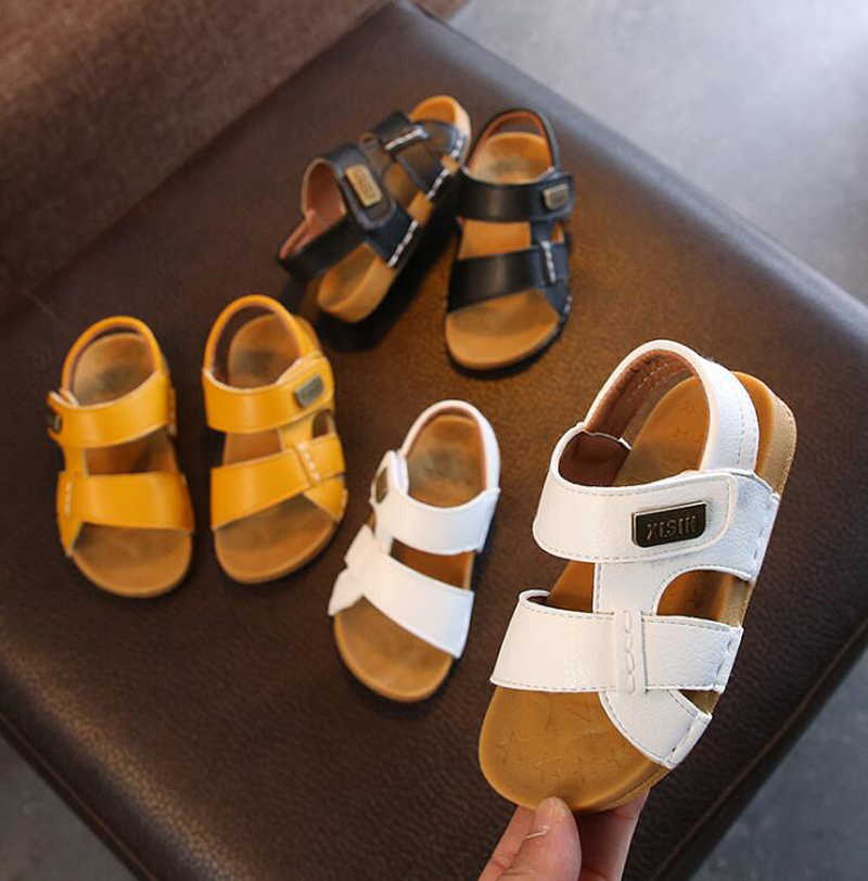 Ulknn Jongens Sandalies Kinderen Sandalen Jongens Stiksels Eenvoudige Zachte Bodem Sandalen Meisjes Baby Strand Schoenen Tij 2020 Zomer Nieuwe