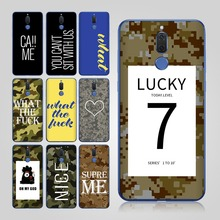 Fashion Camouflage Lucky 7 Cases for Coque Huawei Mate 10 Lite Case P Smart case Funda P10 lite P9 9 Pro