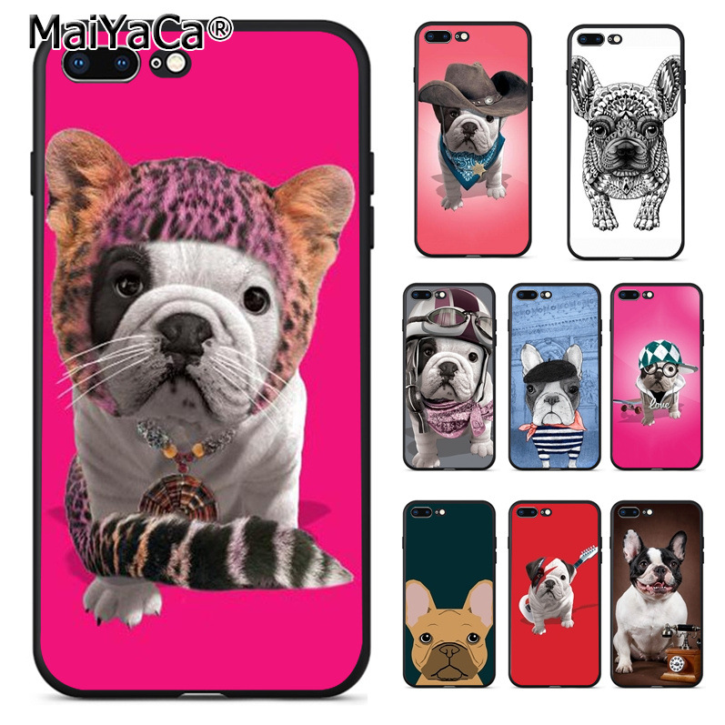 MaiYaCa french bulldog puppies dog cute Personalized Phone Accessories Case for Apple iPhone 8 7 6 6S Plus X 5 5S SE 5C Cover