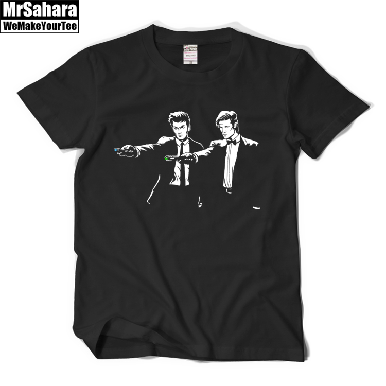 new fashion men doctor who t shirt cartoon DR WHO printed customized male tops short sleeve casual funny basic tee