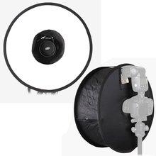 """Ronda anillo magnético plegable portable universal difusor de flash softbox disparar macro 45 cm/18 """"para canon nikon speedlite flash"""