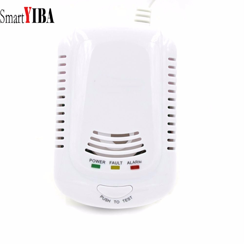 SmartYIBA Wired Gas Detector Combustible Gas Sensor Gas Leakage Alarm Tester Sensor Light Voice Prompt Warning For Home Kitchen