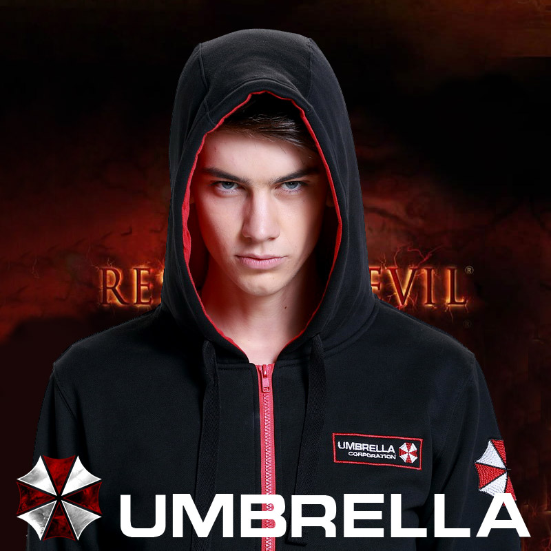 Resident Evil 7 Biohazard The Final Chapter Umbrella Corporation Hoodie Costume Sweatshirt Coat  Mma Hoodie