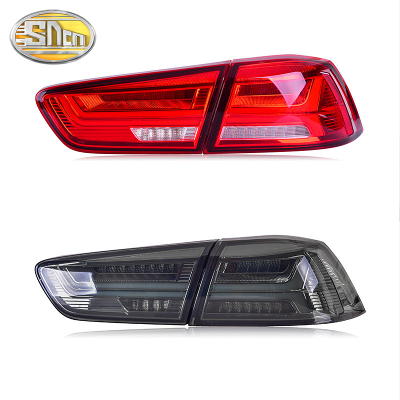 LED Taillights Assembly for Mitsubishi Lancer EVOx 2005 2016 2017 LED Tail Lamp Rear Lamp DRL Brake Park Signal Car Styling in Car Light Assembly from Automobiles Motorcycles