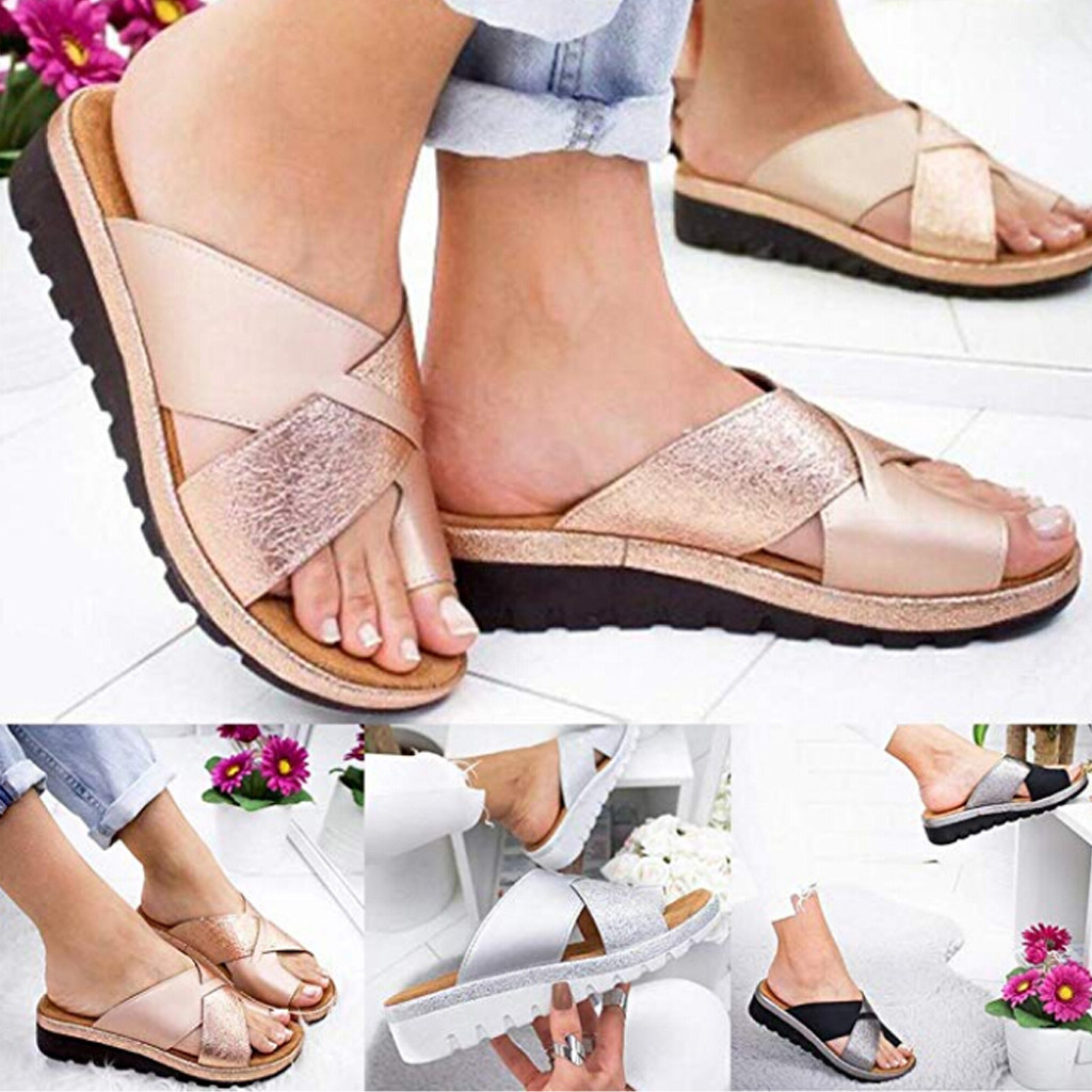 Sandal Corrector Shoes Platform Orthopedic Flat-Sole Bunion Comfy Soft Casual Women Ladies