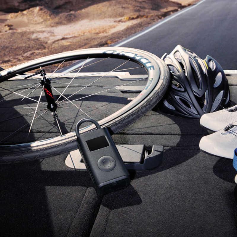 Oryginalny Xiaomi Mini nadmuchiwane pompa kompresor opon przenośne elektryczne pompy dla samochodów Bike Football opony motocyklowe pompy powietrza