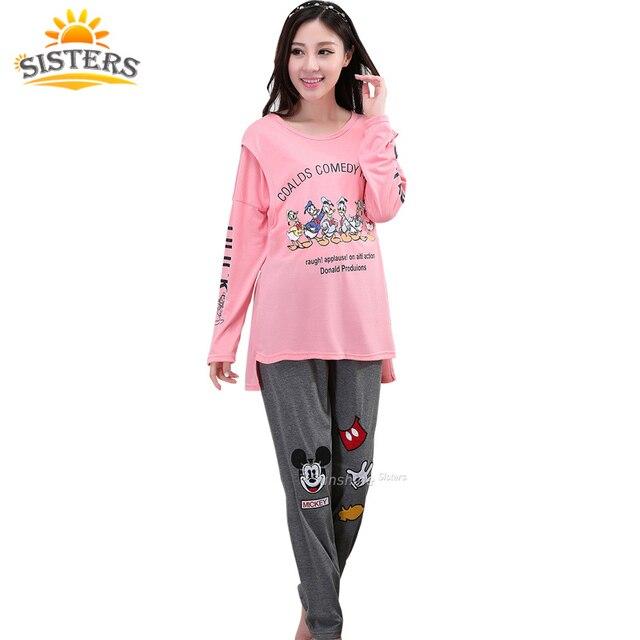 Big Size L-XXXXL Cotton Maternity Sleepwear Pregnant Women Pajamas Nursing  Breast Feeding Nightgown Clothes For Long Sleeve