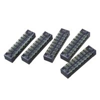 5 Pcs 600V 15A 8 Positions 8P Dual Rows Covered Barrier Screw Terminal Block|terminal block|screw terminal barrierblock block -