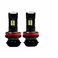 2Pcs H8 H11 Led HB4 9006 HB3 9005 Fog Lamp Bulb 3030SMD 1200LM 6000K White Car Driving Running Lamp Auto Led Light 12V 24V(China)