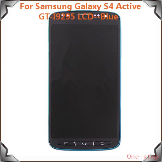Prix pour 100% LCD D'origine Pour Samsung Galaxy S4 Active i9295 LCD Affichage à L'écran Tactile Avec Digitizer Assemblée + Cadre, Livraison Gratuite! (Bleu)