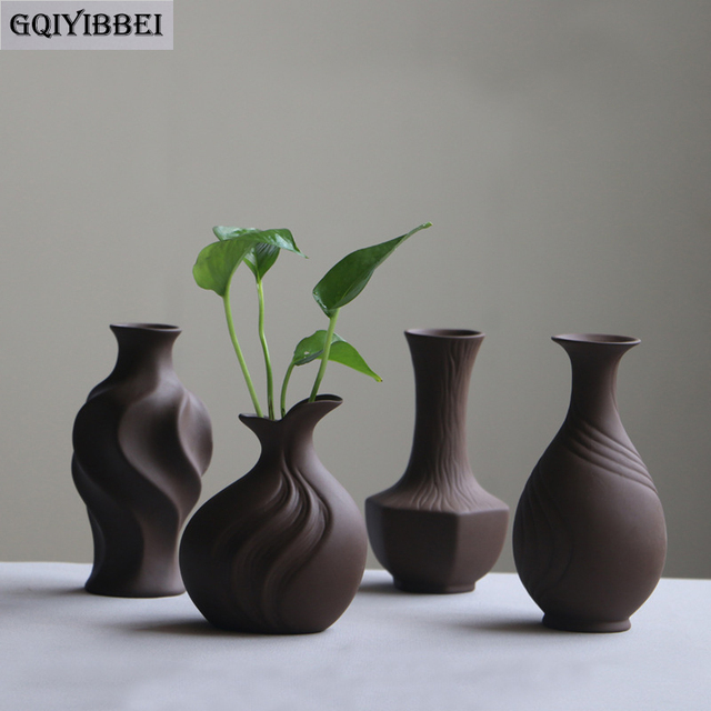 GQIYIBBEI Classic Ceramic Vase Purple Chinese Arts Crafts Contracted Porcelain Flower Vase Creative Gift Home Decor Ornaments