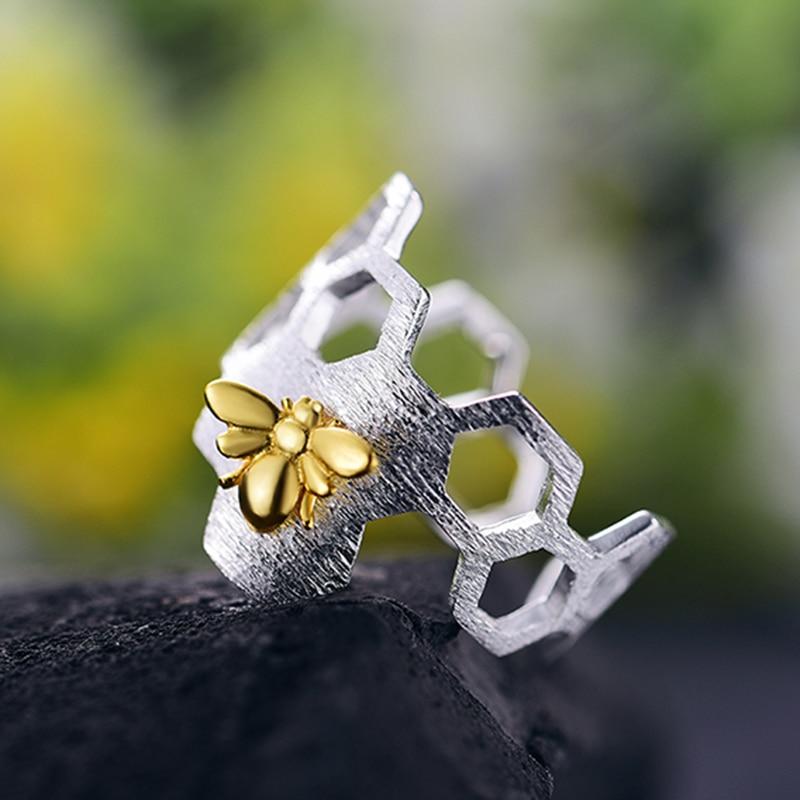 Lotus Fun Echt 925 Sterling Silber Schmuck Natürliche Handgemachte - Edlen Schmuck - Foto 2