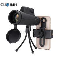 40x Zoom Monocular Mobile Phone Telescope Lense 40x60 For Iphone Huawei Xiaomi Smartphones Phone Camera Lenses Outdoor Hunting
