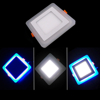10pcs 6W 9W 16W Acrylic LED Panel Downlight 3 Model Square Panel Light Warm Cold White