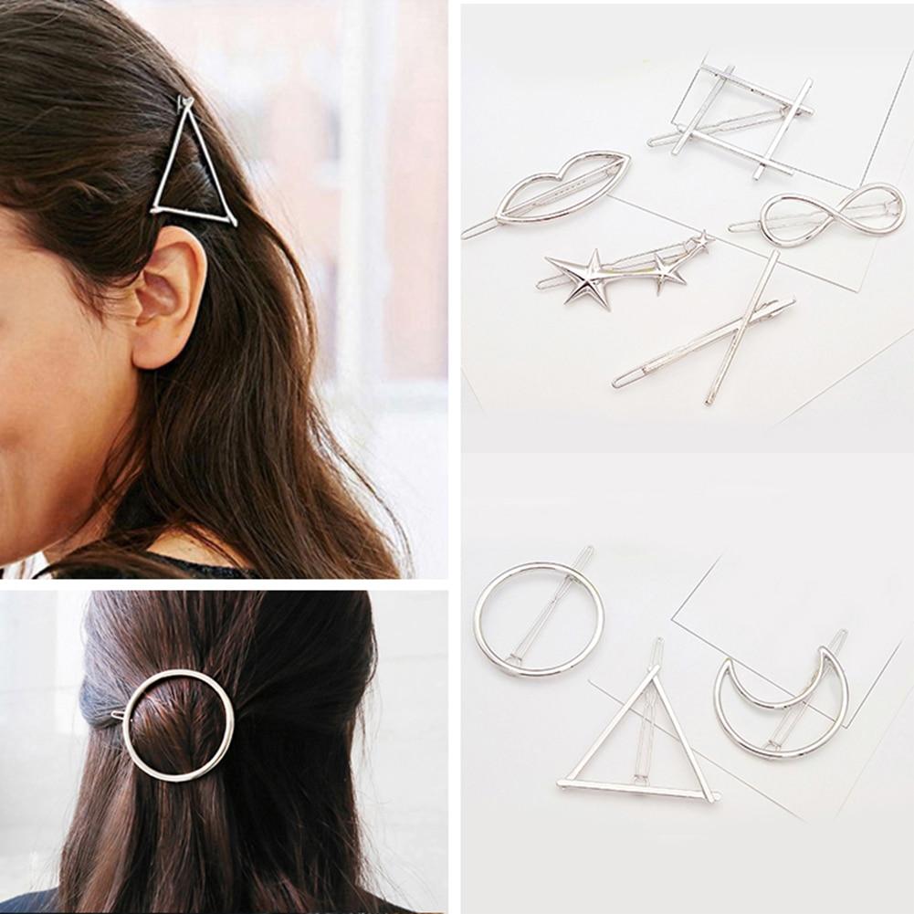 Women Fashion Hair Accessories Metal Hairpins Lady Simple Hair Clip Barrette Headwear Hair Styling Tool
