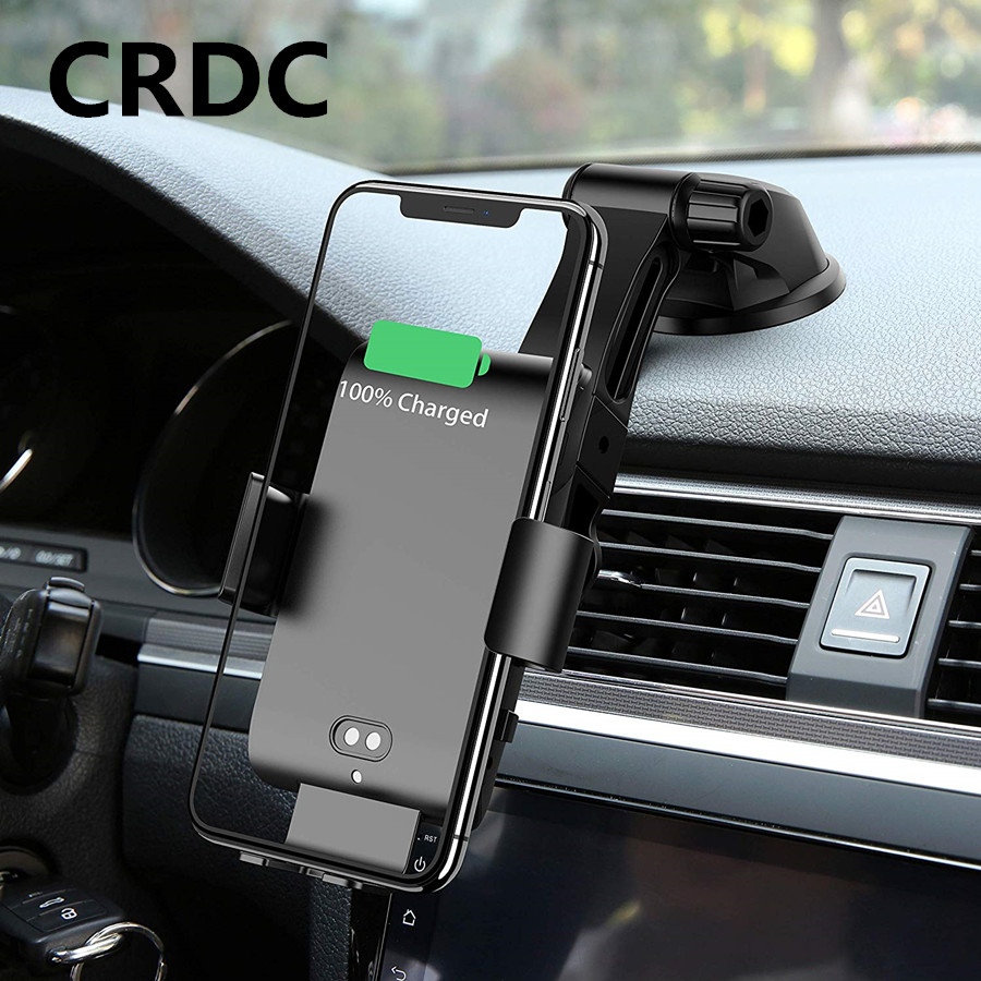 Wireless-Charger Xiaomi Mi9 10W Phone Qi Car for Auto-Clamping Loose Fast-Charging Car-Air-Vent-Mount