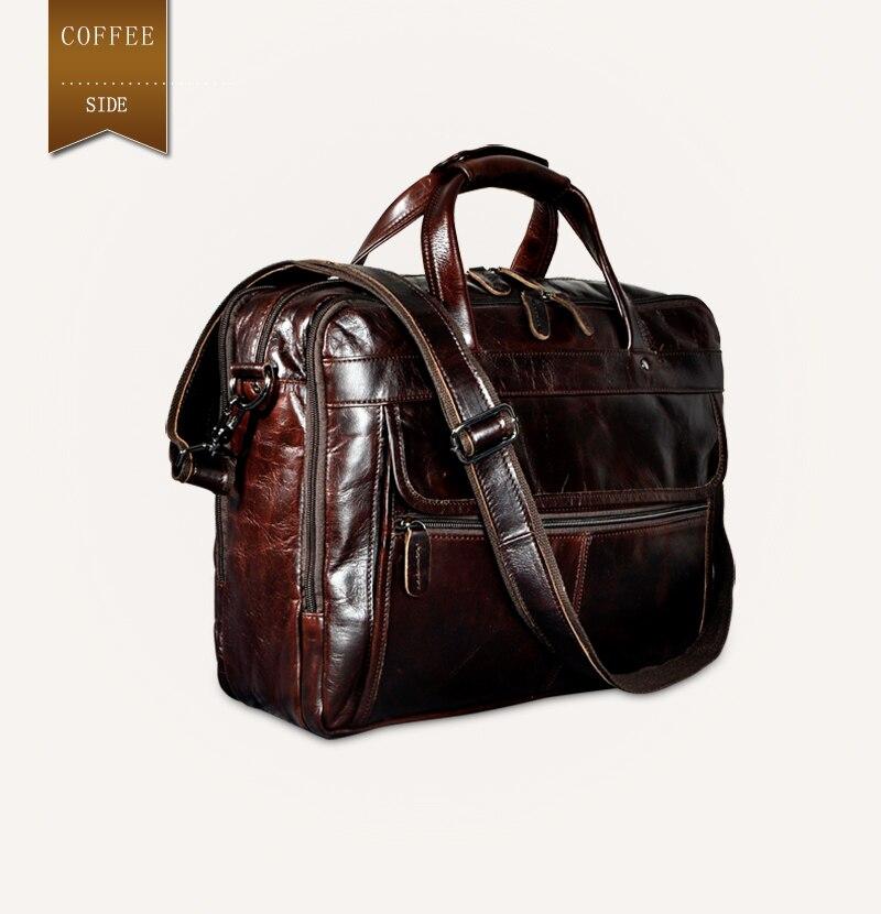 HTB1EhfYdfDH8KJjy1Xcq6ApdXXaR Men Oil Waxy Leather Antique Design Business Briefcase Laptop Document Case Fashion Attache Messenger Bag Tote Portfolio 7146