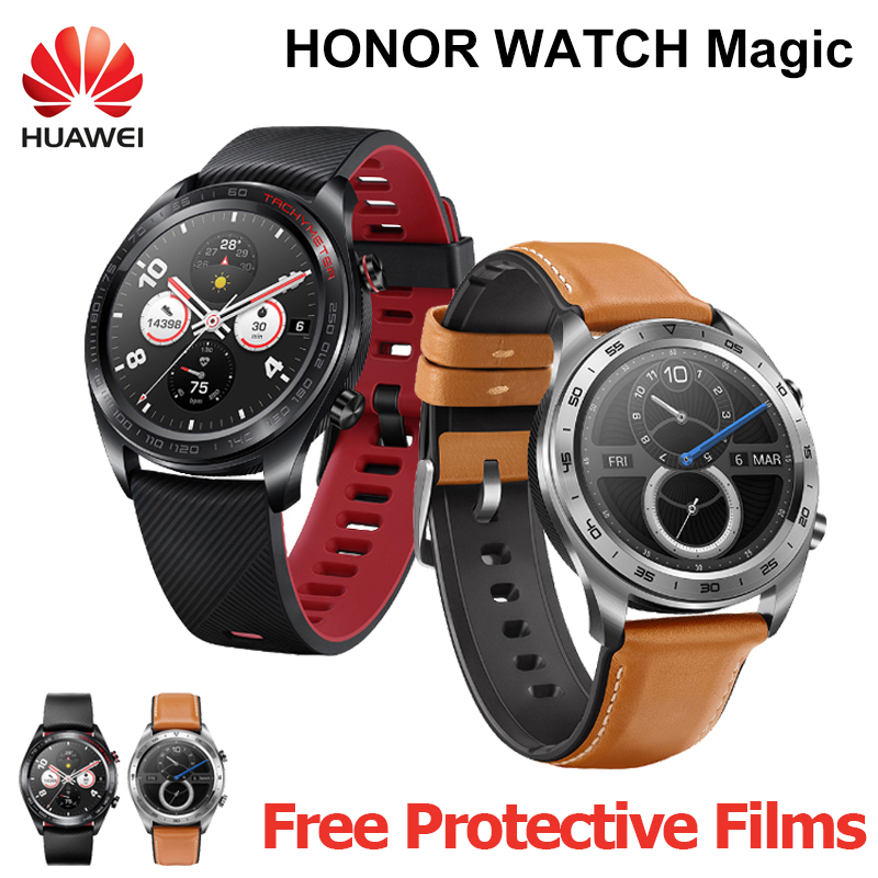 HUAWEI HONNEUR Montre Smart Watch Maigic GPS Sport Smartwatch 1.2 pouce AMOLED écran tactile surveillance de la fréquence cardiaque BT4.2 BLE 5ATM étanche