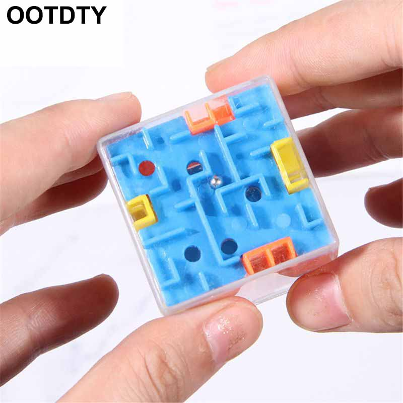 1 Piece Puzzle Maze Toy Brain Game Challenge Fidget Toys Balance Educational Toys Keychain Kids Toys Gift